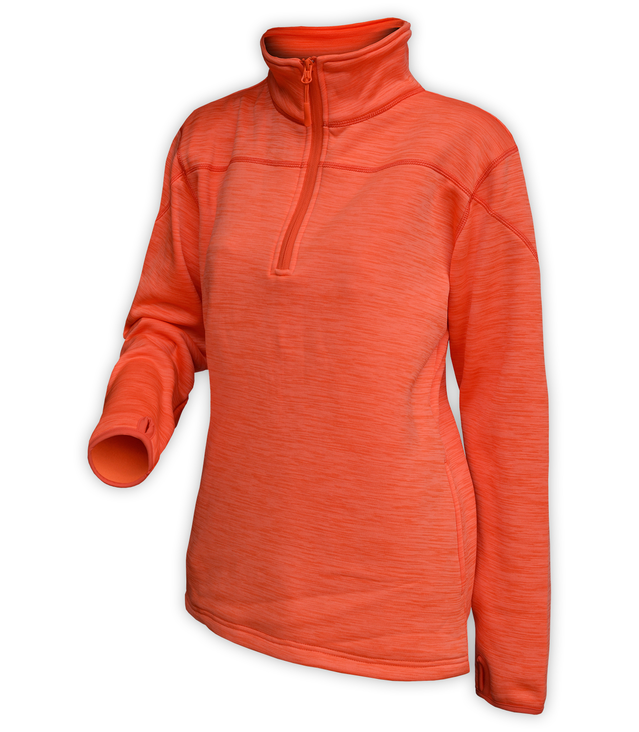 orange sweater pullover, quarter zip, women, wholesale, for embroidery