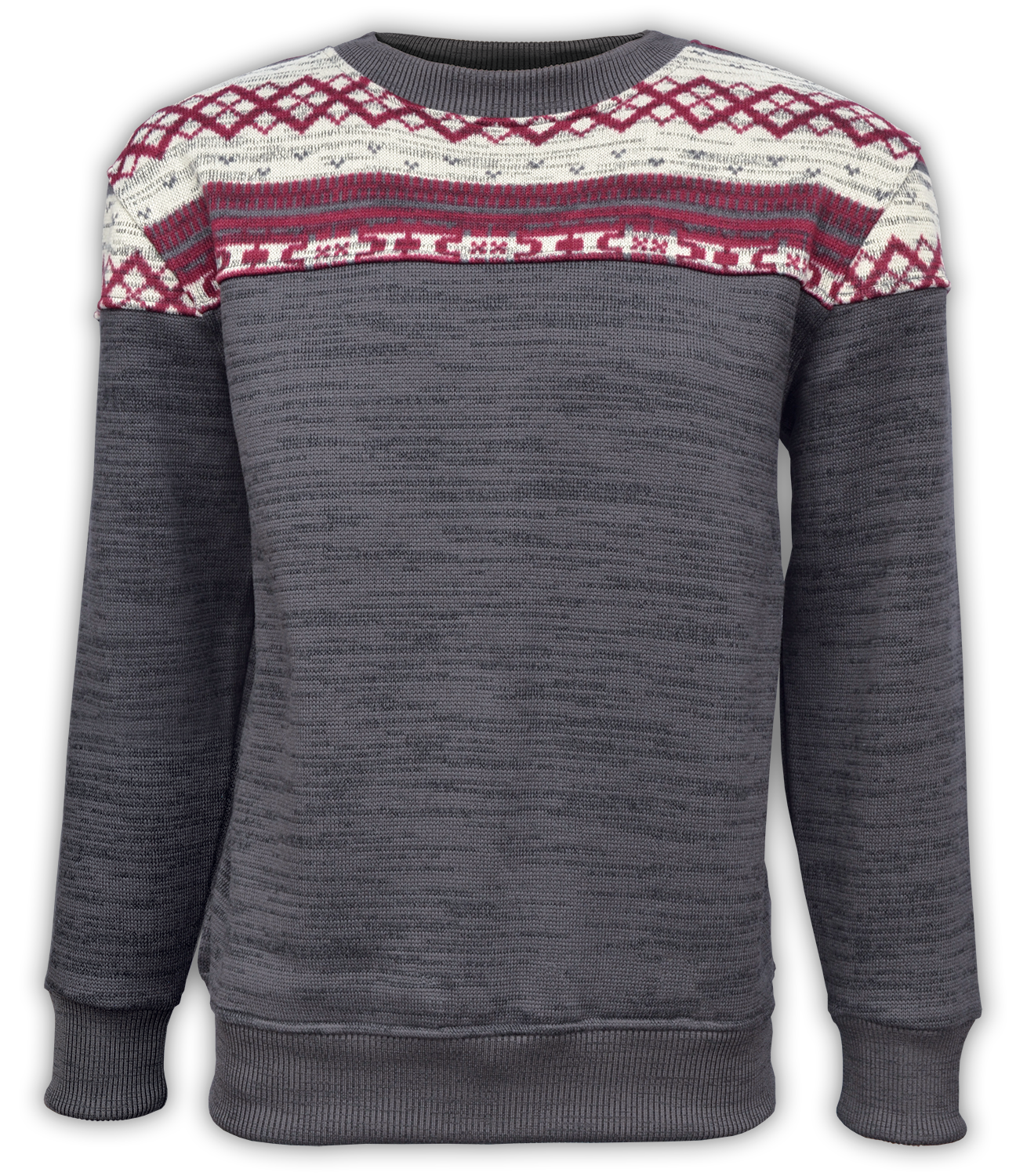 printed sweater fleece pattern crewneck, full chest embroidery wholesale