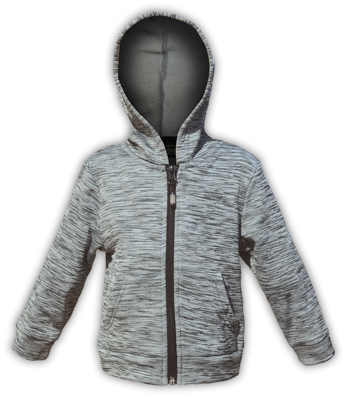 zipper kids jacket for embroidery hood