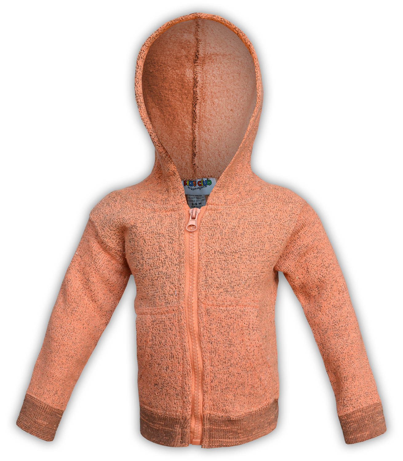 renegade-club-kids-jacket-nantucket-fleece-infant-toddler-youth-wholesale-fleece jacket, full zip, orange, pink, salmon