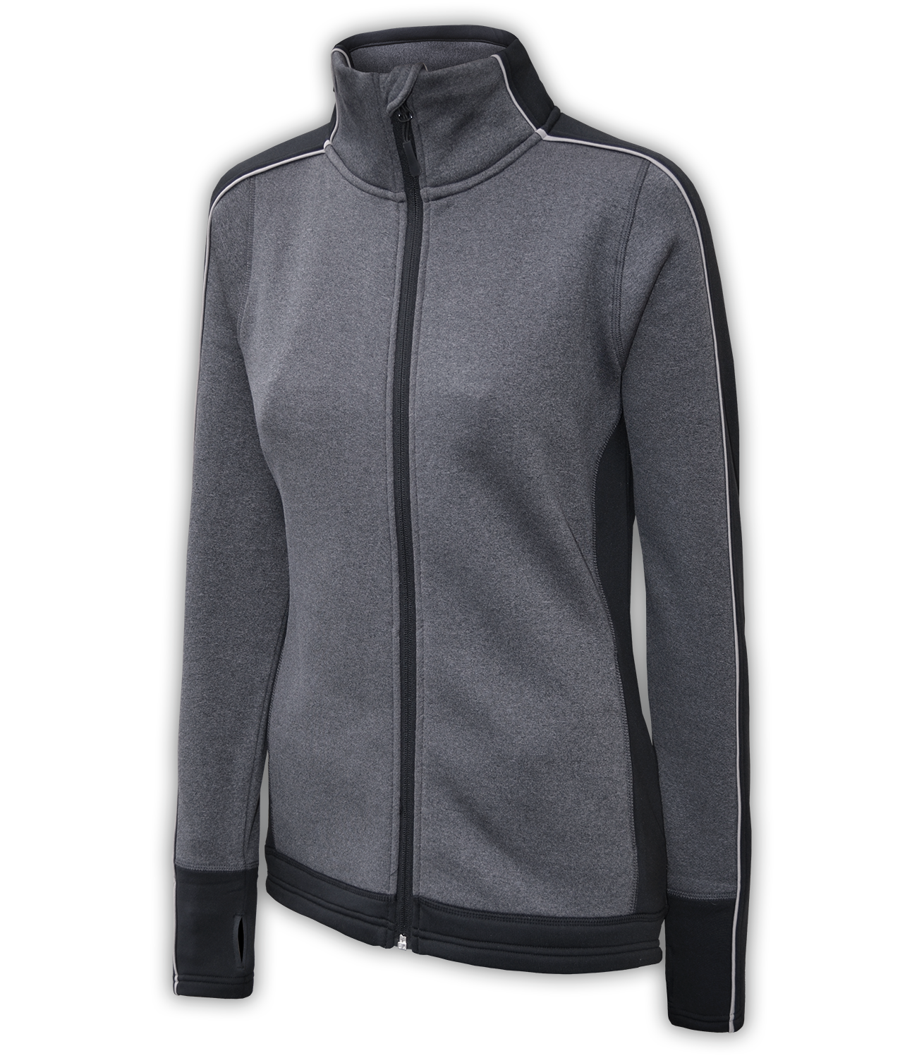 women's gray fitted wholesale jacket