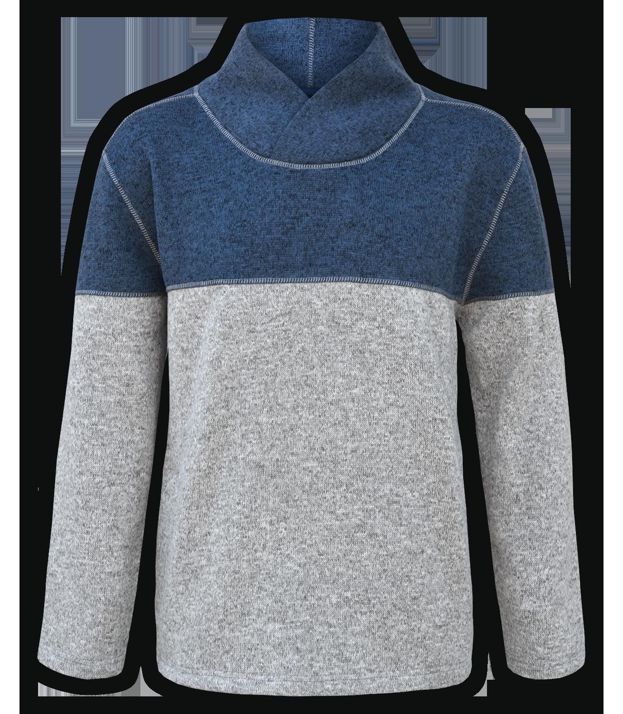 men's shawl collar sweater renegade club blue