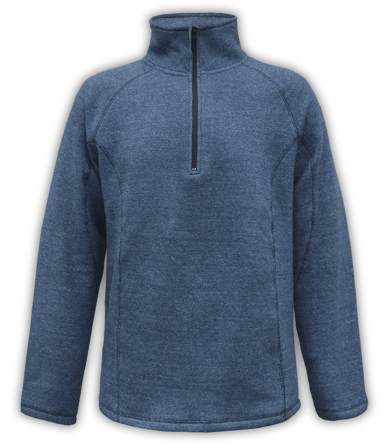 Renegade club unisex fleece pullover, half zip, nantucket soft fleece, mens pullover, womens pullover, denim, blue