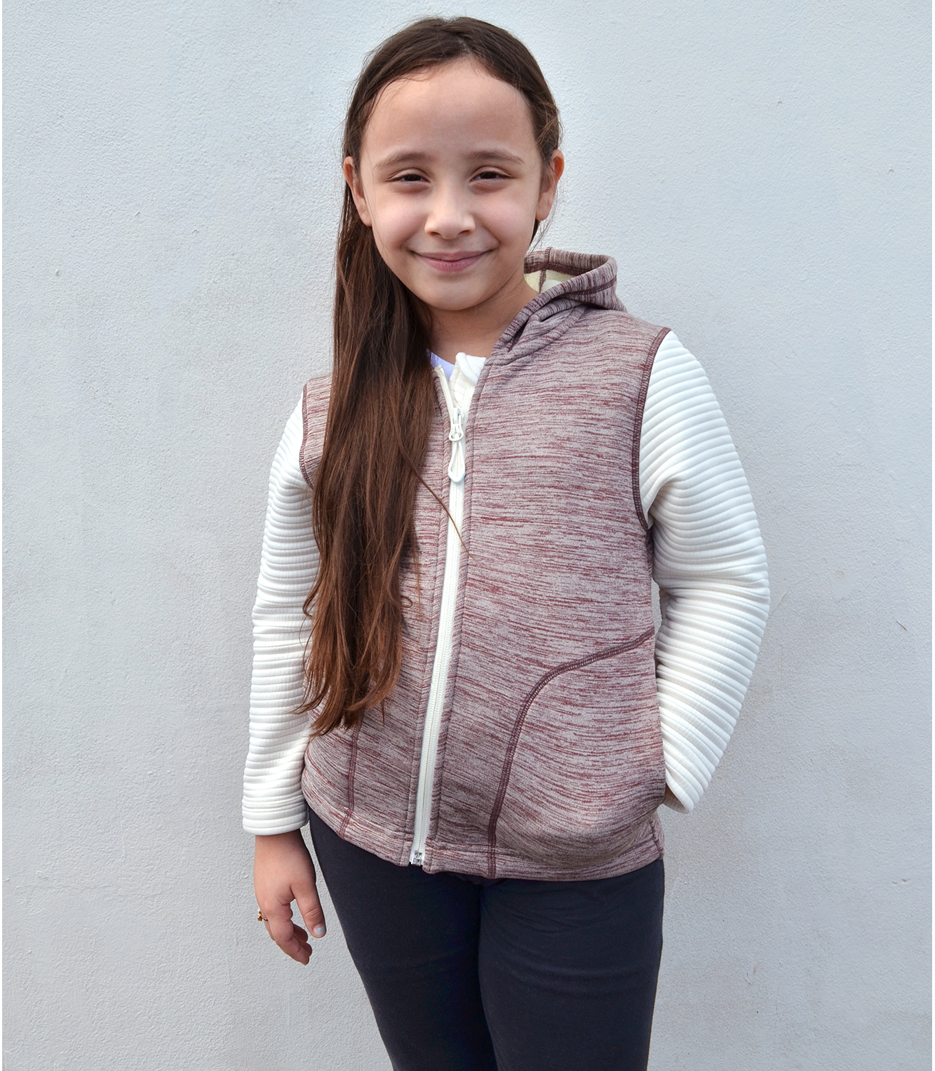 Renegade kids jacket, power stretch, 3d fleece , cream , full zipper, hood, wholesale youth blanks for embroidery wholesale